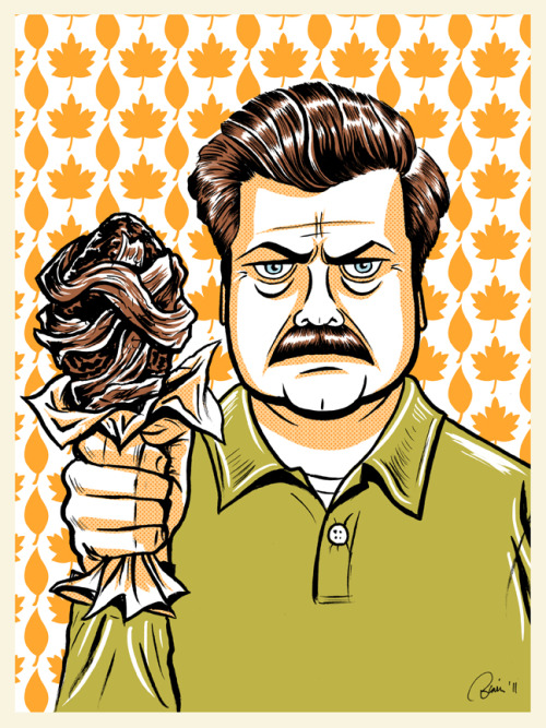 xombiedirge:  Ron Swanson by Blain Hefner / Blog / Flickr