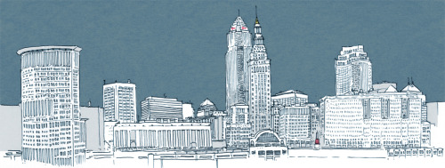 Day 89/100 Cleveland's skyline I like our modest little skyline! Can you point out the Key Tower, Terminal Tower, and the Huntington Bank Tower (BP Building)? My favorite views are from the Lorain-Carnegie bridge and on W.5th in Tremont next to Sokolowski's and Fat Cat's - I've always wanted to have a little nighttime picnic in the middle of the road right by the railing, but that wouldn't be very safe.