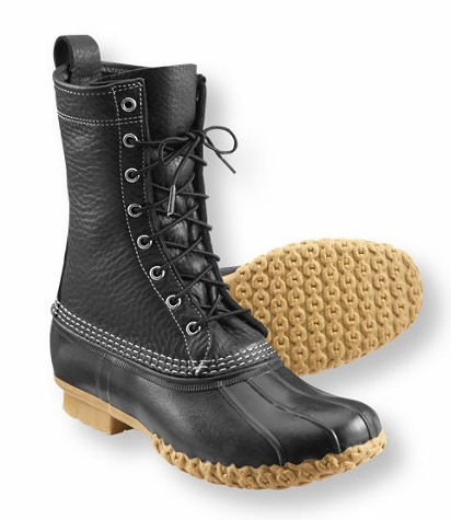Urban Hipster Alert!  Black-on-Black Bean Boot.