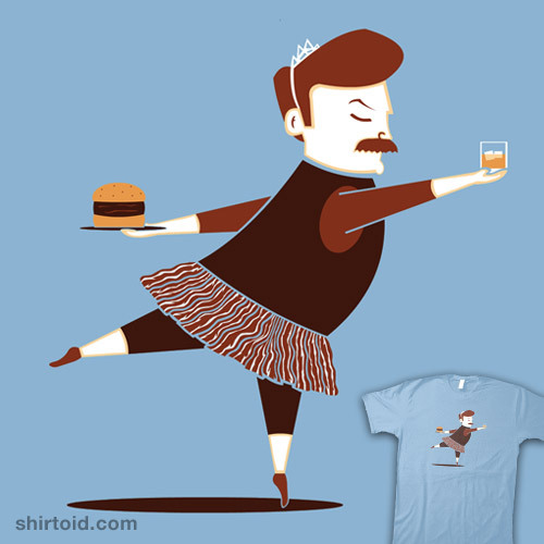shirtoid:  Black Swanson available at RedBubble