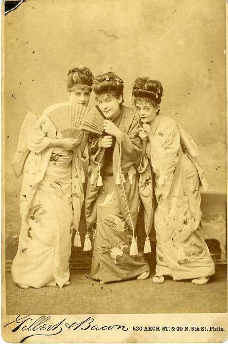"maudelynn:  ""Dressed as Geisha Girls"" Cabinet Card c.1900"