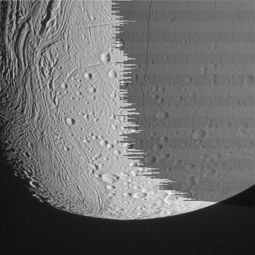 Enceladus Rev 153 Raw PreviewThese raw, unprocessed images of Saturn's moon Enceladus were taken on Sept. 13, 2011.Click HERE for all images!