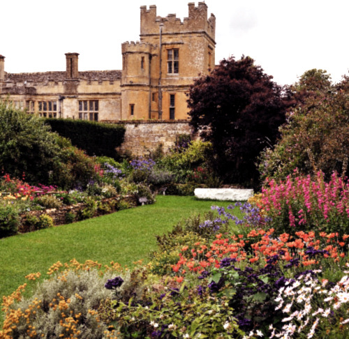 "enchantedengland:     ""Sudeley Castle Secret Gardens""  Sudeley Castle, near Winchcombe, Gloucestershire, England, dates from the tenth century; although the inhabited portion is chiefly Elizabethan. The castle has a large and notable garden, although I am not sure why this is called a Secret Garden. It isn't exactly hidden or anything. The chapel nearby contains the marble tomb of Queen Catherine Parr, the sixth wife of King Henry VIII. Sudeley is one of the few castles left in England that is still in residence. (Image from Wikimedia)"