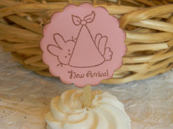 (via Baby Rabbit great for baby showers Cupcake by ItwasMadewithLuv)