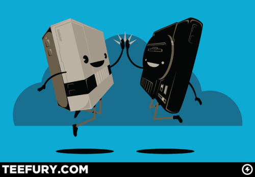 hi-five by RogerRoger on sale Tue 09/27/11 at teefury.com