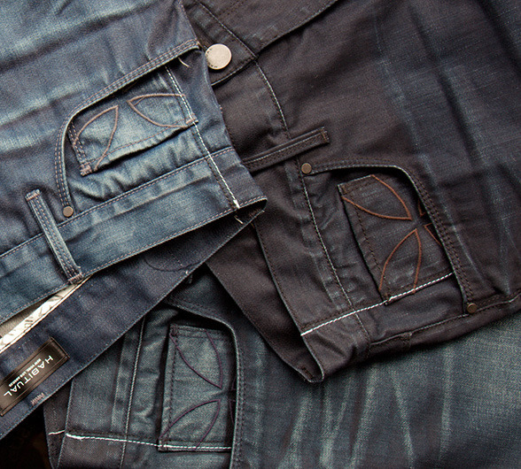 "Habitual has announced its plan to release a line of men's denim in January of 2012.  Finally, Habitual's philosophy of subtle, thought-inspiring, sexy jeans will be available for men. Habitual's traditional washes (each of which takes months to perfect) continues in the new looks, which will also feature Habitual's signature handcrafted Maltese cross in the front pocket.  Habitual has opted for a higher, more comfortable rise and plans to produce a variety of cuts including skinny, slim straight, straight, and relaxed boot fits.  Both button and zip flies will be available.  As Design Director Jennifer Wojinski describes, ""It's a very tailored and sophisticated look with a European aesthetic. It's more of a city look than the vintage look a lot of other brands are going for these days."" (image courtesy of Habitual Jeans) ————————————————- Habitual was founded in 2001 and draws its design inspiration from New York and Los Angeles. Best known for its intricate wash process and innovative design, Habitual has established itself as one of the world's top premium denim manufacturers.  All of Habitual's clothing is made and designed by American workers in Los Angeles, California.  See them at www.habitual.com"