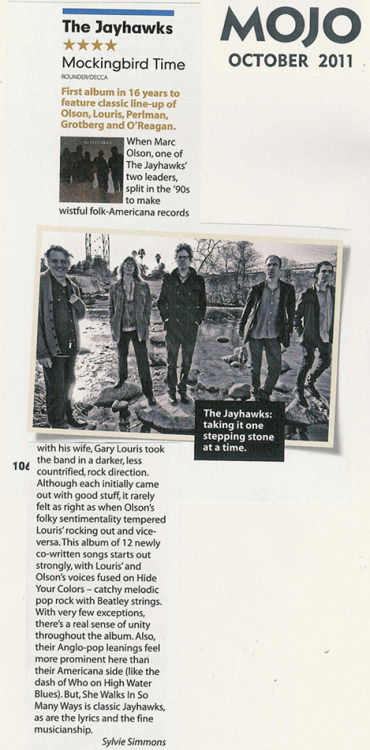 Mojo magazine review - October 2011