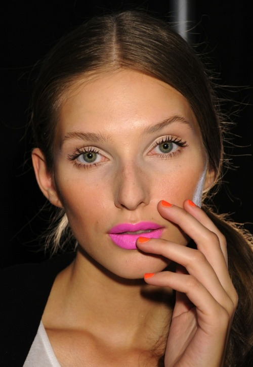 Backstage at Milly (Photo: Courtesy of Creative Nail Design (CND))