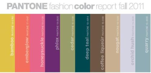 "Fall 2011 Color Trends If you're anything like me, you take one look at the models on the runway and think, ""How bizarre! Do normal people actually wear that?"" The answer is no, or so I hope, but there are some important takeaways you can gather from looks on the runway. The easiest one is color.  Designers create plenty of looks based on the ""in"" colors for the season, emphasizing hues even more by clothing models in ridiculous amounts of each color. By doing this, though, they make it pretty clear what colors will be hip each season, and sites like Pantone to and Million Looks help us out even more by posting pictures and pallets of the freshest looks for fall.  Wearing colors that are in is an easy way to stay on top of the trends while still wearing simple, basic pieces that can be paired with many outfits and won't go out of style. For realistic outfits for every day, look at the runway trends here and tone them down about ten notches – the key is to get inspiration and not imitate. Pantone also does an excellent job of summing up this fall's colors. You can check out their collection here."