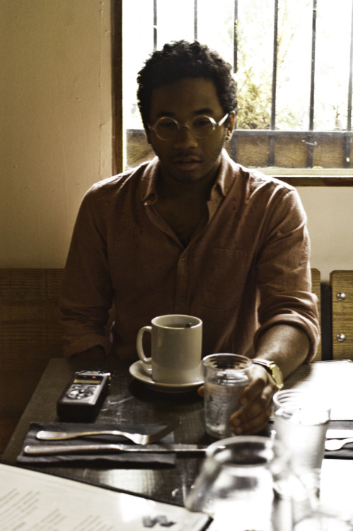 Grabbing some Green Tea with Chaz Bundick Of Toro Y Moi At the Bedford  shout out to:jaerows
