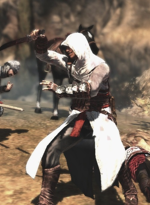 randomlygenorated:  This just made Altair about ten times more badass.  here is a picture of Altair. I should love him a little more….