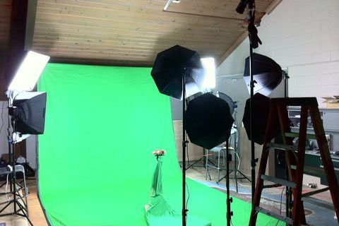 "iaian7:  At Bridge Community Church: ""Greenscreen studio is almost ready to rock!"""