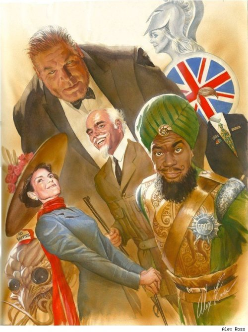 demonsee:  30 Rock/League of Extraordinary Gentlemen by Alex Ross