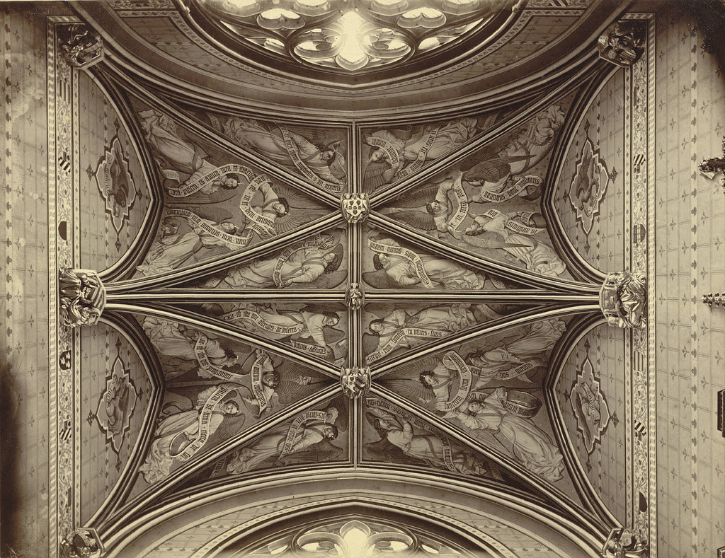 The ceiling of the chapel of the Jacques Coeur Palace, Bourges