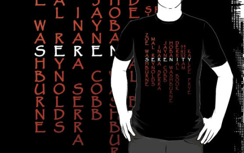 "70rch:  the-rbc:  ""Part of the Crew"" Firefly T-Shirts & Hoodies by Blayde at RedBubble  asdfjkl; I want!"