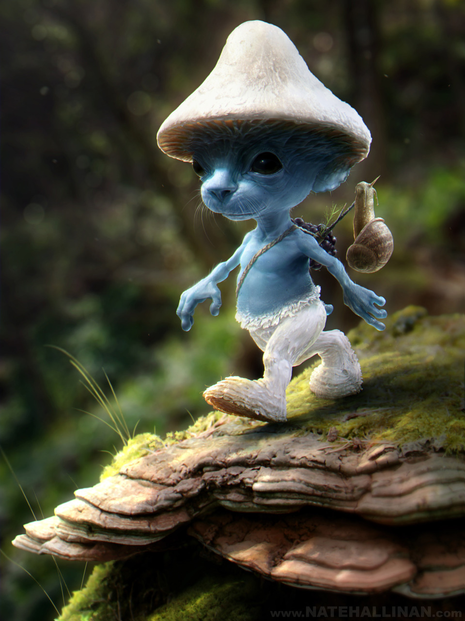 Illustrator Nate Hallinan shows us what REAL Smurfs look like! Click on his name to read his explanation for the existence of Smurfs, it's hella awesome.  (Then brows his galleries, tons of fantastic stuff in there…)