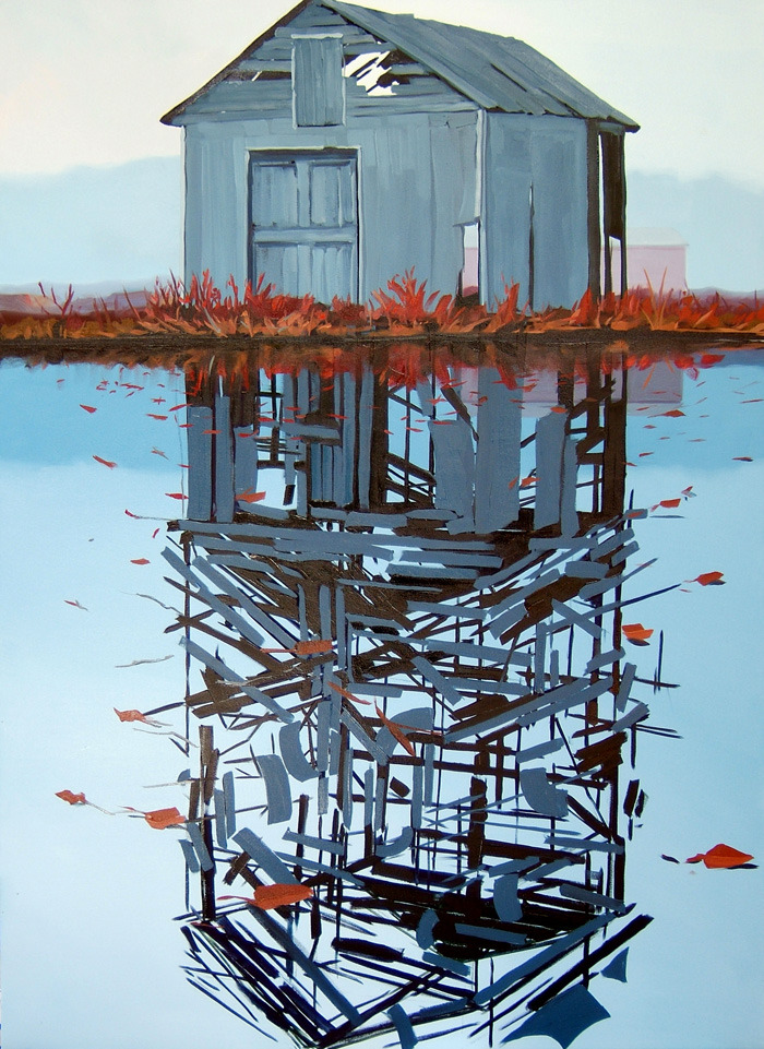 "artchipel:  Ben Grasso - By the Bulrush II. Oil on Canvas, 50x70""  (2008)"