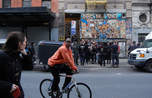 "no-gimmicks:  Rivington Street by fvnk on Flickr   ABOUT: ABC NO RIO ""Our community is defined by a set of shared values and convictions. It is both a local and international community. It is a community committed to social justice, equality, anti-authoritarianism, autonomous action, collective processes, and to nurturing alternative structures and institutions operating on such principles."""