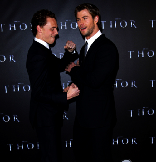 "such a fan of this bromance tomhiddlestonfans:  hiddlywink:  oi-dancing-boy:    ""It's quite literally a bromance. The ""bro"" aspect of the word is for real. I can't imagine having to go to the emotional extremity that we both had to go to, if we actually didn't like each other. It would have just been horrendous to go to work. The fact that we get along, we just egg each other on. We raised each other's game. We just had a really, really good time. Chris [Hemsworth] had a few drinks at the wrap party and was hanging out the window on the way back to the hotel, and before we went up to our rooms he said, ""You're the only one who understands, mate.""   Tom Hiddleston, on his relationship with co-star Chris Hemsworth"