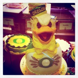 jestone:  Go ducks! #oregon #ducks #uo #mine #iphoneography  (Taken with instagram)  FUCK YEAH! That duck looks fucking brutal.