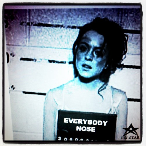 """Everybody Nose"" #flystar #lindsay #whitegirl (Taken with instagram)"
