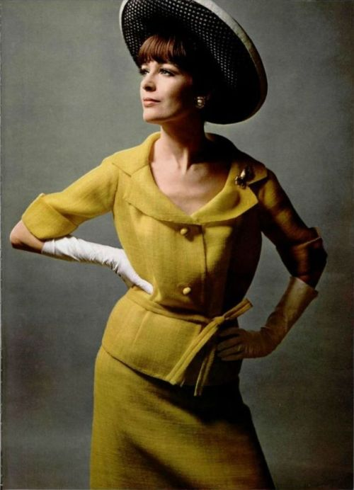 Gres Outfit, Rose Valois Hat - 1965 L'Officiel De La Mode - 515-516