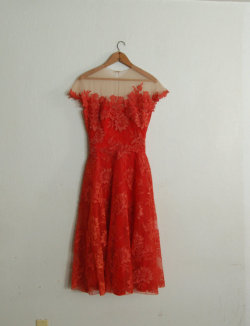(via Vintage 1950's Peggy Hunt Spiced Orange Dress by missingpieces)