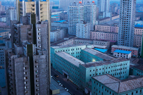 Central Pyongyang, North Korea at dusk. David Guttenfelder/Associated Press