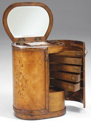 cylindrical chest with mirror. beautiful