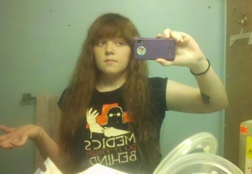 Got bored and straightened my hair. Will never do it again, my hand is in constant pain from holding the iron.