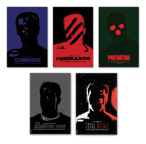 I love these.  minimalmovieposters:  The Schwarzenegger Series By Daniel Norris