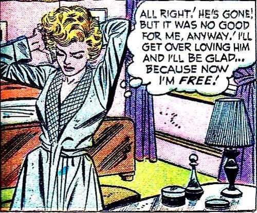 comicallyvintage:  I'll Be Glad… Because Now I'm FREE!