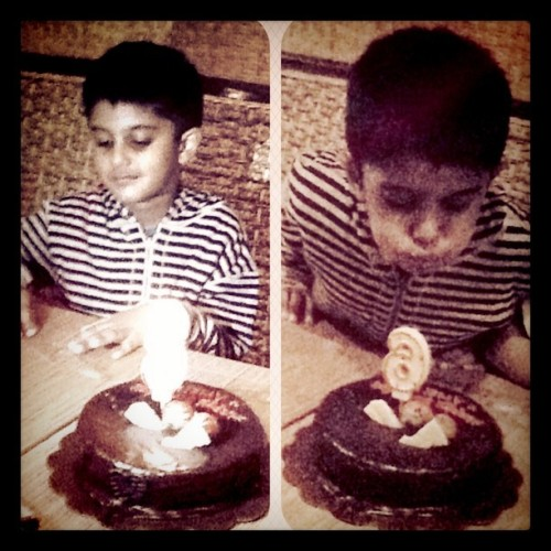 ariel's bday (Taken with Instagram at Cibiuk Traditional Resto)
