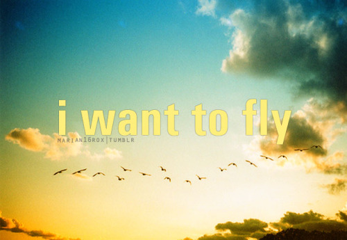marian16rox:  I want to fly.