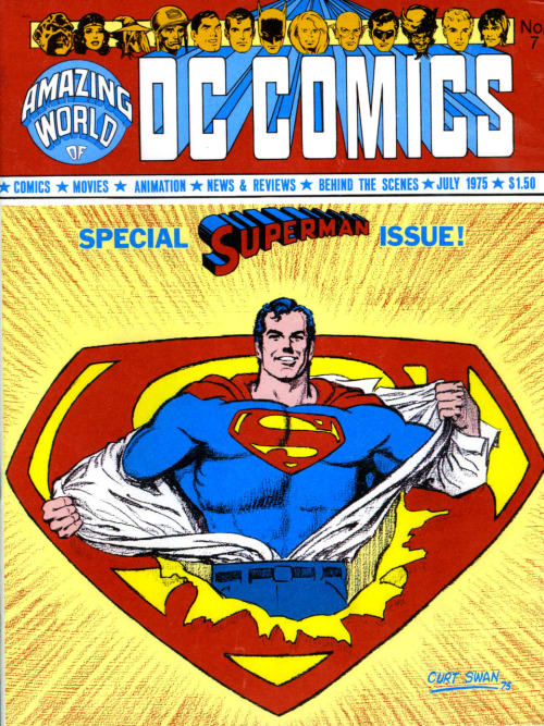 Ooh!  The colored cover version of a Curt Swan Superman pin-up I posted a month or so ago!  Nice to see it was reproduced from the pencils.