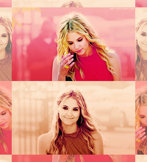Color Meme: Ashley Benson in Pink| requested by bloodyvamp.
