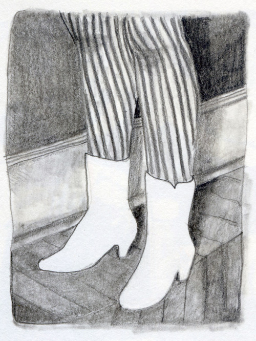 white shoes. graphite.