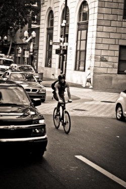 ipatphoto:  My buddy Dan cruisin downtown.