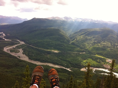 Taking a Break at the top of Grande Mountain, Grande Cache, AB -Third Place photo for Trail Running Canada's Photo Contest which best depicts trail running in Canada