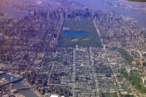 Central Park, New York City, from in-flight by djKianoosh on Flickr.