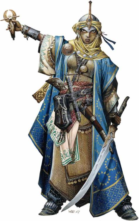 Awesome Pathfinder cleric by Wayne Reynolds.