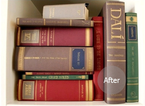 ifyouwantitdoneright:  This is brilliant. DIY dust covers. If I ever have my 'vintage library' that I've always dreamed of, this will be utilized. Tutorial and idea by Hydrangea Girl: After and before.