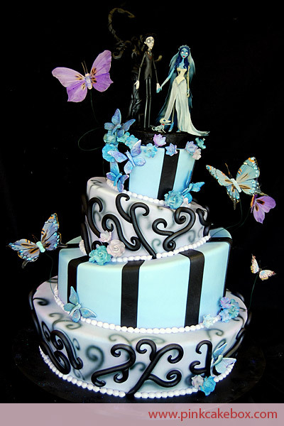 midnightsocietyofthedamned:  Another fabulous wedding cake by Pink Cake Box! The Corpse Bride! LOVE it!!!! And another version of the cake!