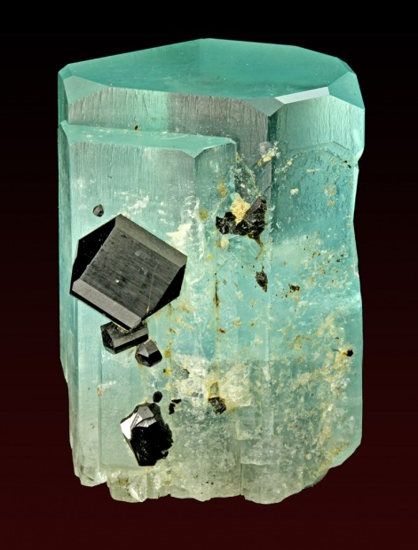 Aquamarine with Schorl from Namibia
