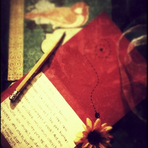 A letter (Taken with instagram)
