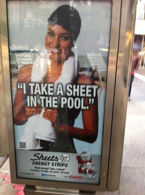 sofapizza:  you ain't cool, unless you sheet the pool.