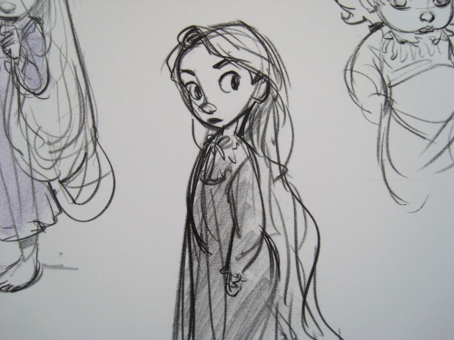 very-vera:  sketch from Rapunzel - concept art Glen Keane.