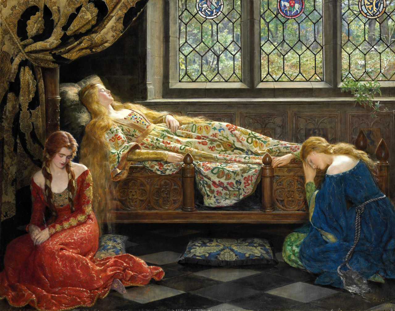 loquaciousconnoisseur:  John Collier Sleeping Beauty (1921)