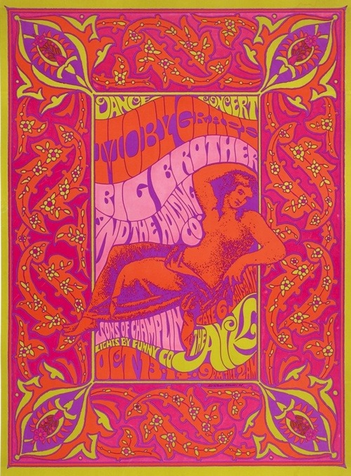 Psychedelic art 60s posters