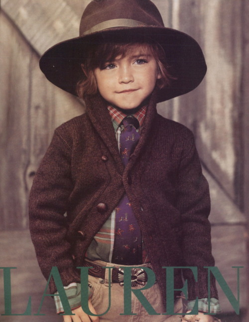 collinfiction:  bowtiedandstarryeyed:  carolinastyle: Ralph Lauren nails it with a lot of his ads whether they be for adults or for children.  6 year old dresses better than 95% of y'all. yes, this is how my child will dress.